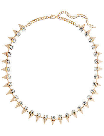 Rhinestone Spike Necklace by Lane Bryant