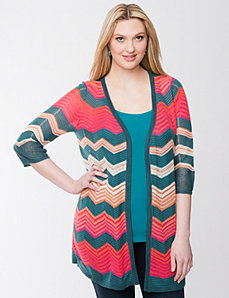 Chevron open stitch cardigan