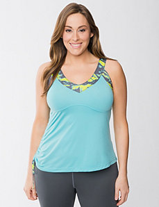Strappy long bra tank by Reebok