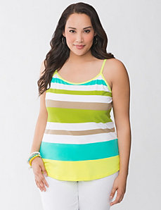 Striped cotton cami by LANE BRYANT