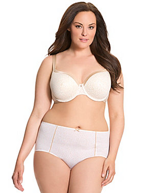 Lightly lined French full coverage bra ensemble