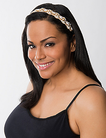 Beaded floral headwrap