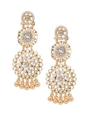 3-tier beaded chandelier earrings by Lane Bryant