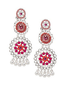 3-tier beaded chandelier earrings by Lane Bryant