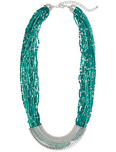 Coiled seed bead necklace by Lane Bryant