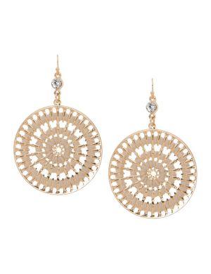 Thread-wrapped hoop earrings by Lane Bryant