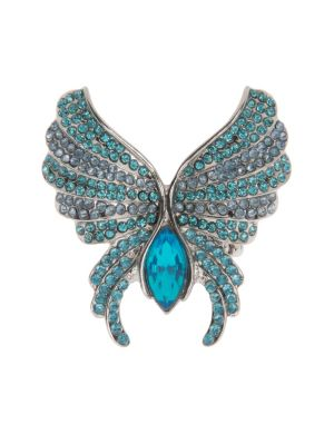 Rhinestone butterfly ring by Lane Bryant