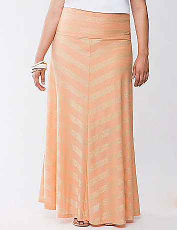 Miter stripe maxi skirt by Seven7