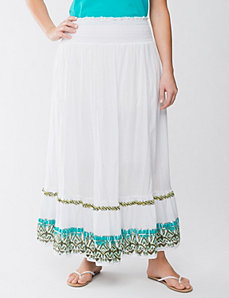 Embellished border long skirt by Lane Bryant