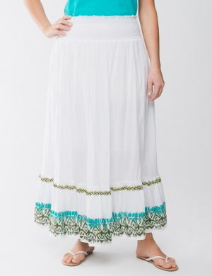 Embellished border long skirt