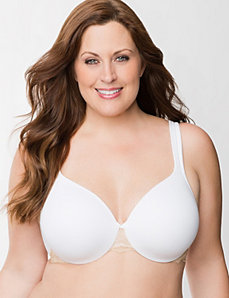 Cotton full coverage bra with lace