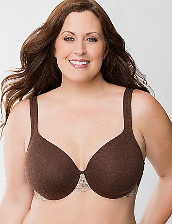 Plus Size Full Coverage Bra with Lace by Cacique
