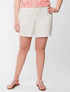 Linen short by Lane Bryant