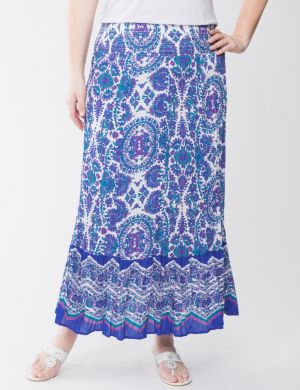 Sequin paisley maxi skirt