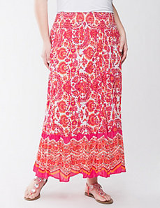 Sequin paisley maxi skirt