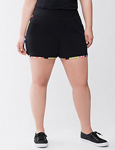 Striped trim active short