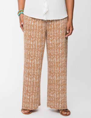 Tribal print soft knit pant