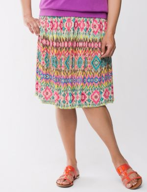 Ikat flippy skirt
