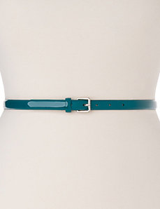 Smooth patent skinny belt