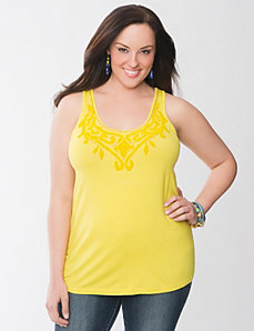 Lane Collection beaded tank by Lane Bryant
