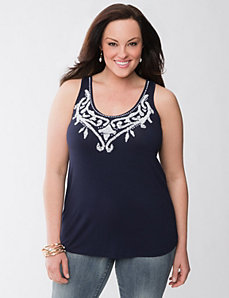 Lane Collection beaded tank