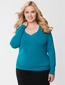 The Classic V sweater by LANE BRYANT