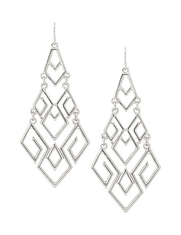 Chevron chandelier earrings by Lane Bryant