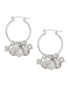 Beaded hoop earrings by Lane Bryant