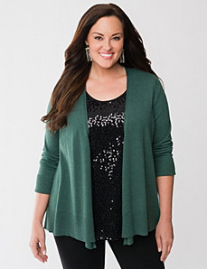 Cozy open cardigan by LANE BRYANT