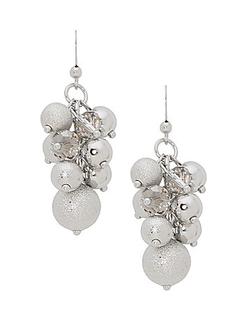 Dusted grape cluster earrings by Lane Bryant
