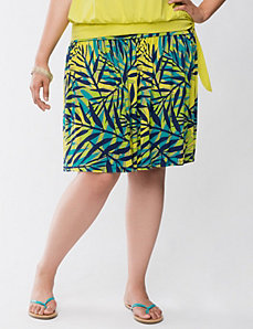 Palm print flippy skirt by LANE BRYANT