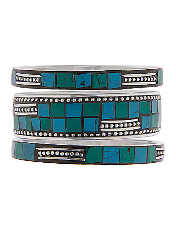 Aztec mosaic bracelet set by Lane Bryant