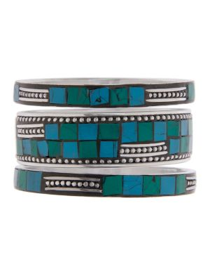 Aztec mosaic bracelet set by Lane Bryant