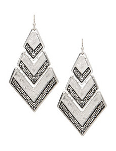 Chevron striped earrings by Lane Bryant
