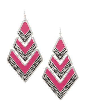 Chevron striped earrings by Lane Bryant