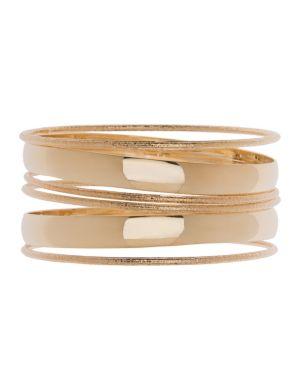 Textured 6 row bangle bracelet set by Lane Bryant