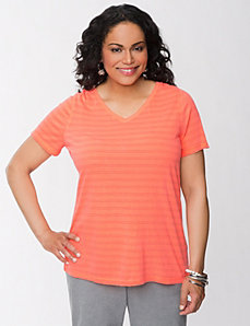 Striped neon tee by LANE BRYANT