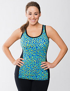 Cheetah print active tank