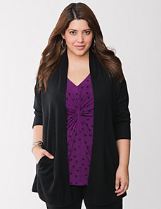 Merino blend cardigan by LANE BRYANT
