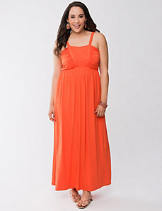 Chevron stitch maxi dress