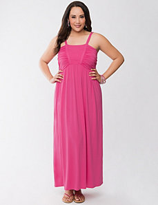 Maxi dress with stitch detail