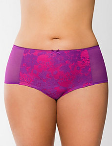 Sheer lace boyshort panty
