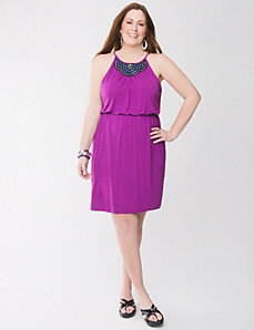 Embellished knit dress by Lane Bryant