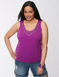 Crochet tank by Lane Bryant