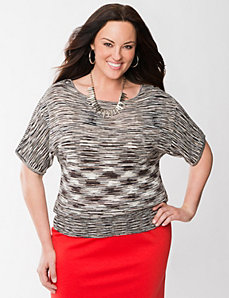 Space dye dolman sweater by LANE BRYANT