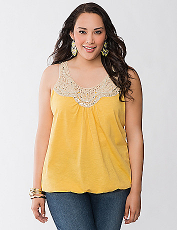 Sequin crochet tank