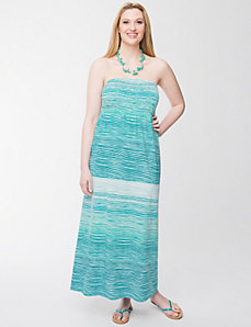 Smocked slub maxi dress by LANE BRYANT