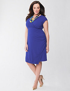 Full Figure Lane Collection Surplice Dress by Lane Bryant