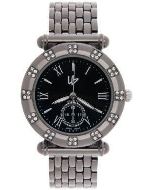 Rhinestone studded watch by Lane Bryant