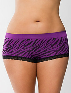 Seamless boyshort panty with lace by LANE BRYANT